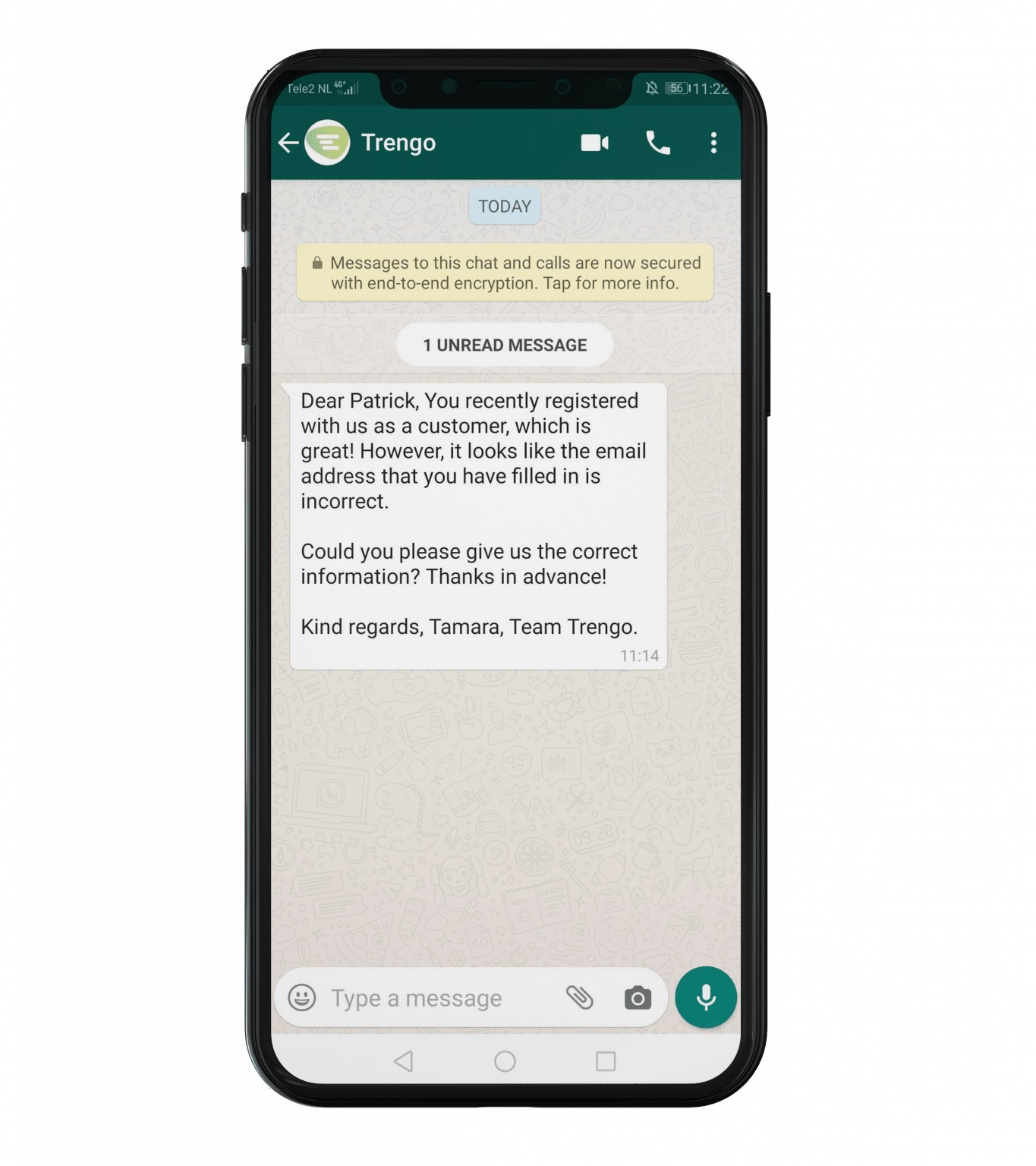 WhatsApp Business Message Template