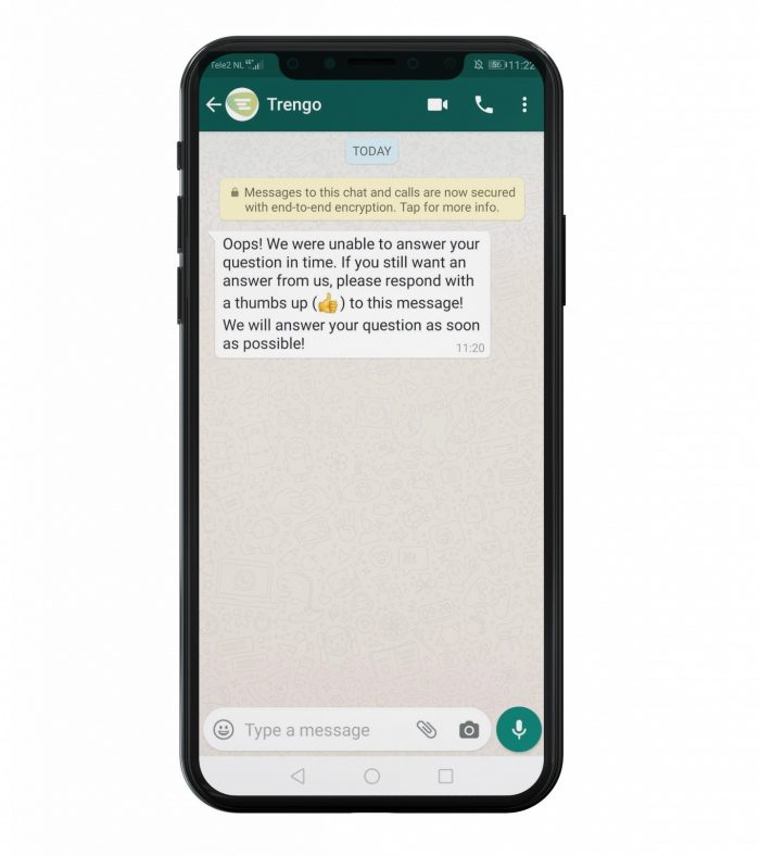 WhatsApp Business 24 uurs regel template voorbeeld