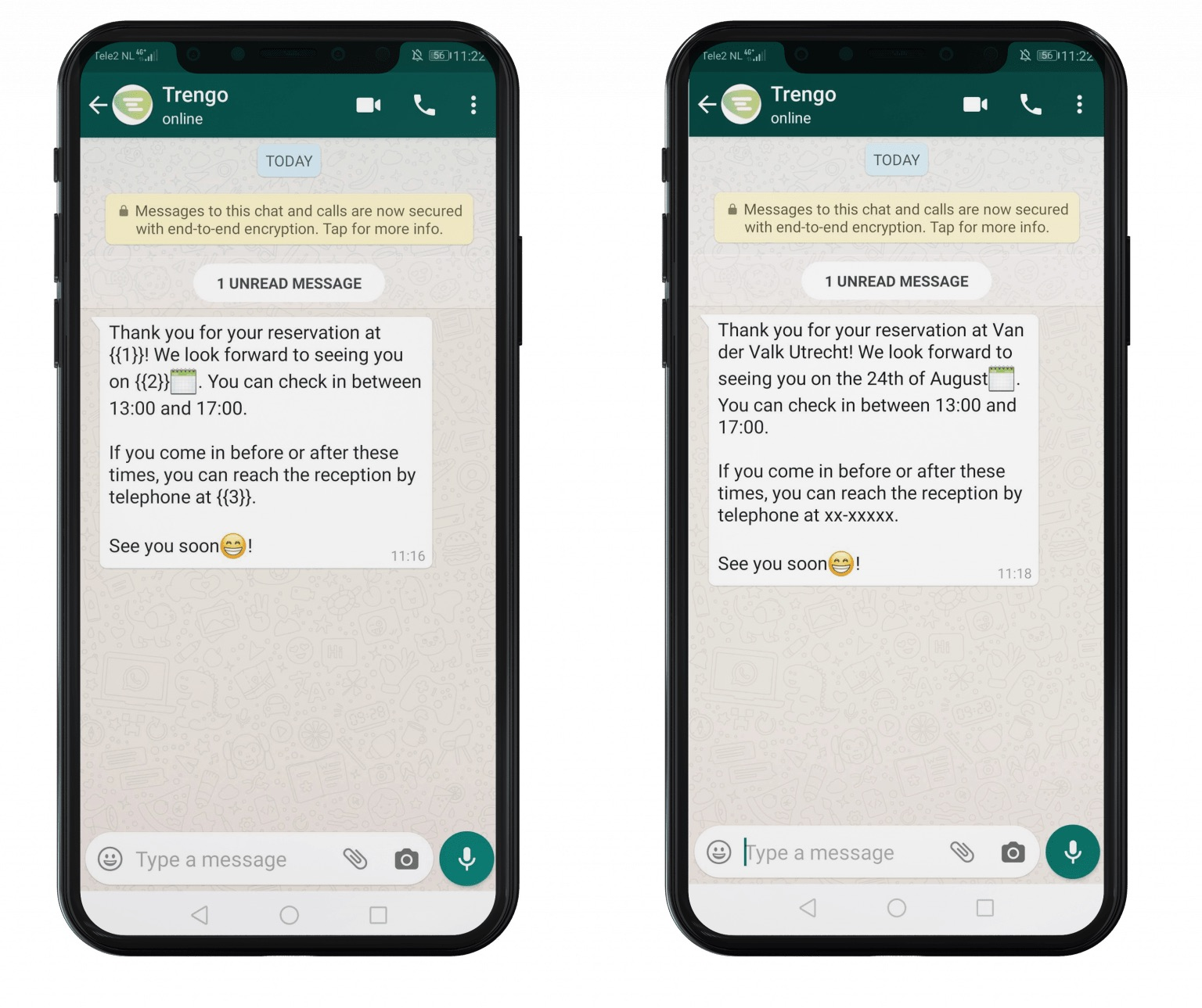 Highly structured WhatsApp BusinessMessage Template