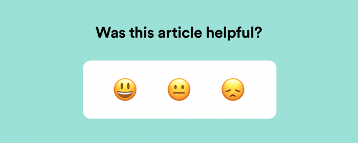 Rate help center articles